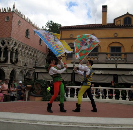WDW italian flag performers