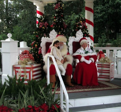 WDW santa and mrs claus at epcot