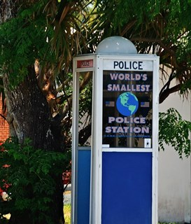 FLORIDATRAVELER SMALLEST POLICE STATION