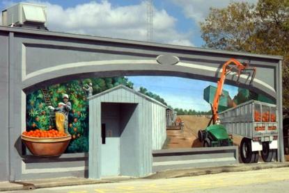 floridatraveler orangepickerslkplacid mural