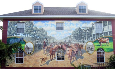 floridatraveler  puntagordaCattledrive-mural