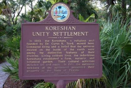 floridatraveler koreshan plaque1