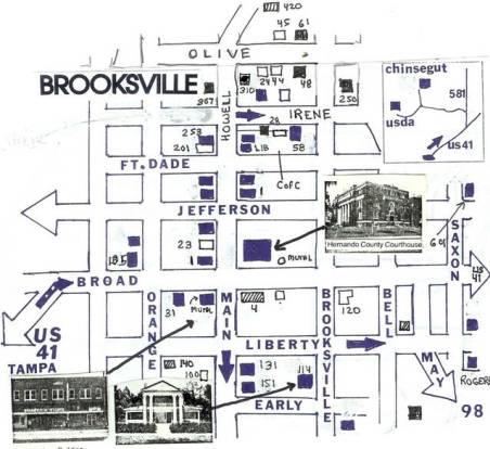 floridatraveler brooksvillemap