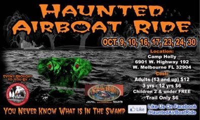 floridatravelerhaunted airboat ride