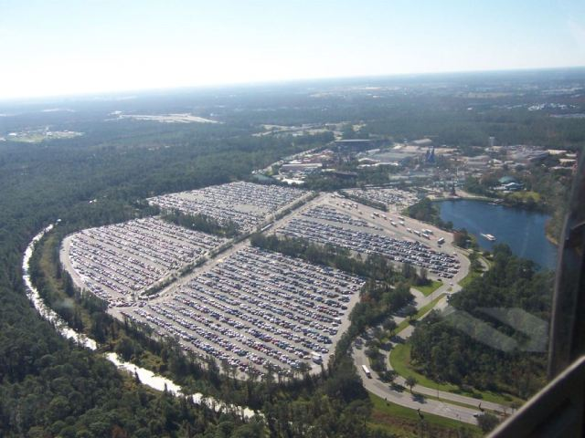 floridatraveler one of 5 largest parking lots in world World-Magic-Kingdom
