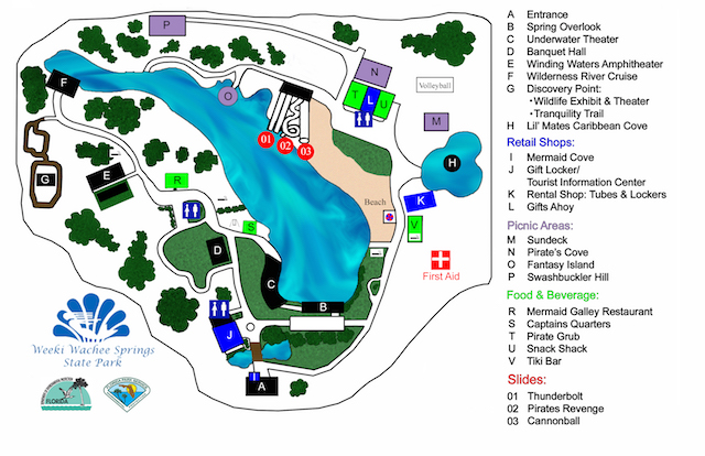 FLORIDATRAVELER Weeki-Wachee-Park-Map