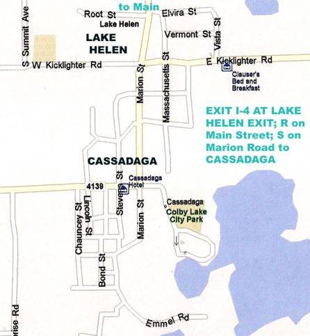 FLORIDATRAVELER CASSADEGA map