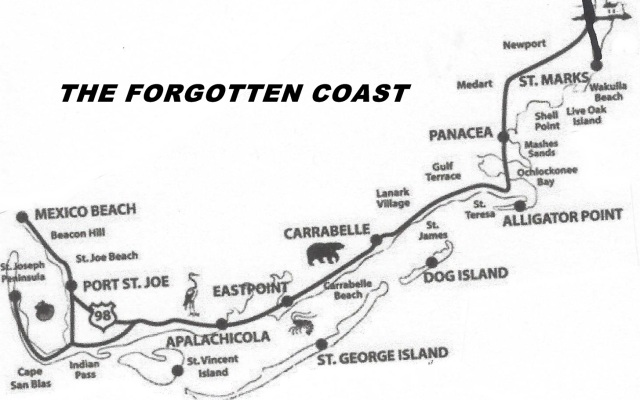 FLORIDATRAVELER FORGOTTEN COAST MAP