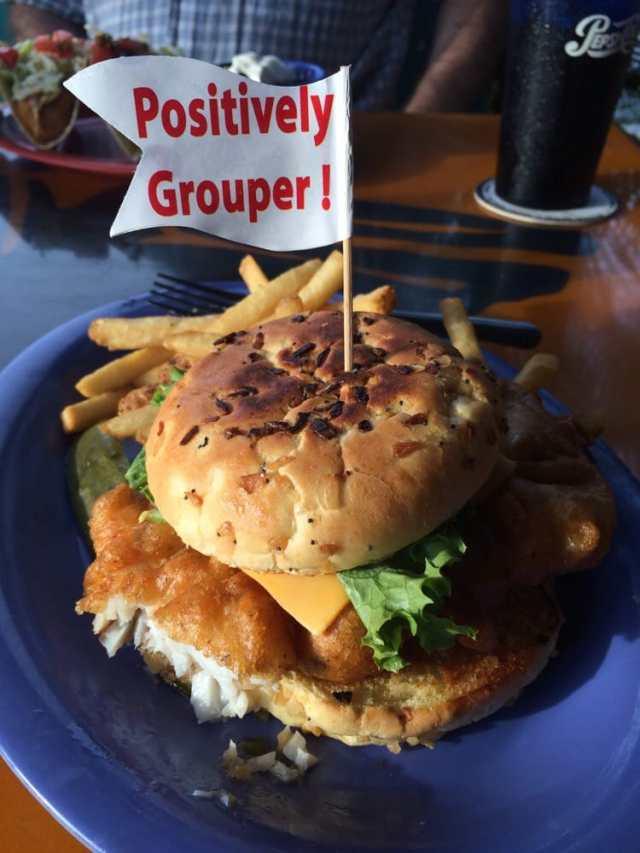 floridatraveler GROUPER SANDWICH at frenchys