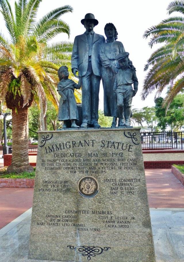 floridatraveler ybor immigrant statue