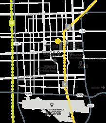 floridatraveler rr station map in _FT-LAUDERDALE