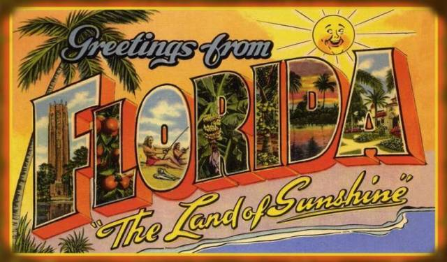 FLORIDATRAVELER the sunshine state postcard