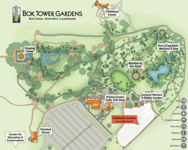 floridatraveler BOK GARDENS MAP